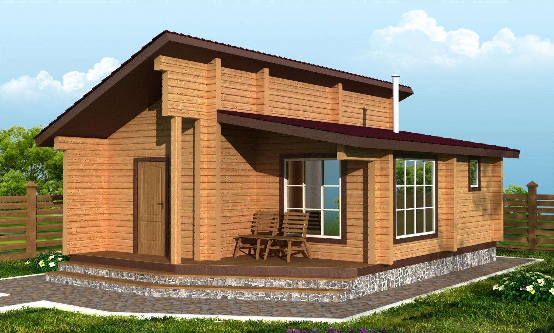Проект ДБ-100 Дом из бруса 6х8.3