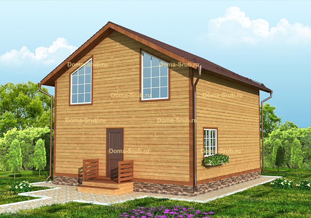 Проект ДБ-122 Дом из бруса 8х9