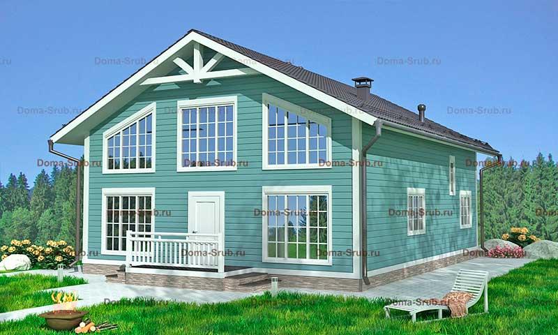 Проект ДБ-31 Дом из бруса 9х12