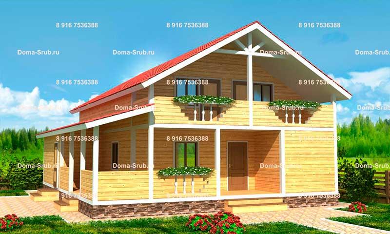 Проект ДБ-34 Дом из бруса 10х12