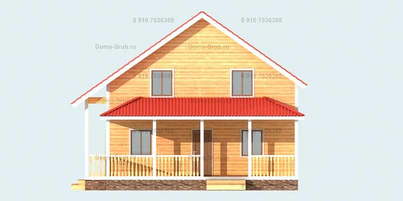 Проект ДБ-36 Дом из бруса 9х12
