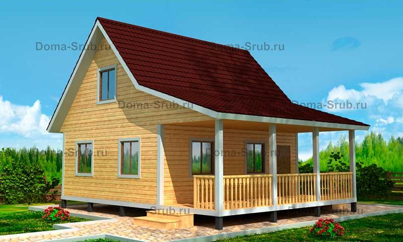 Проект ДБ-41 Дом из бруса 7х8.5