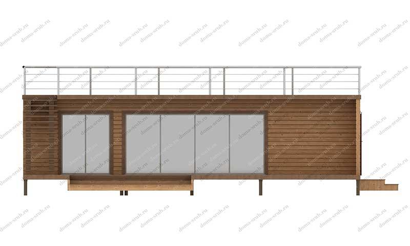 Проект ДБ-42 Дом из бруса 9х12