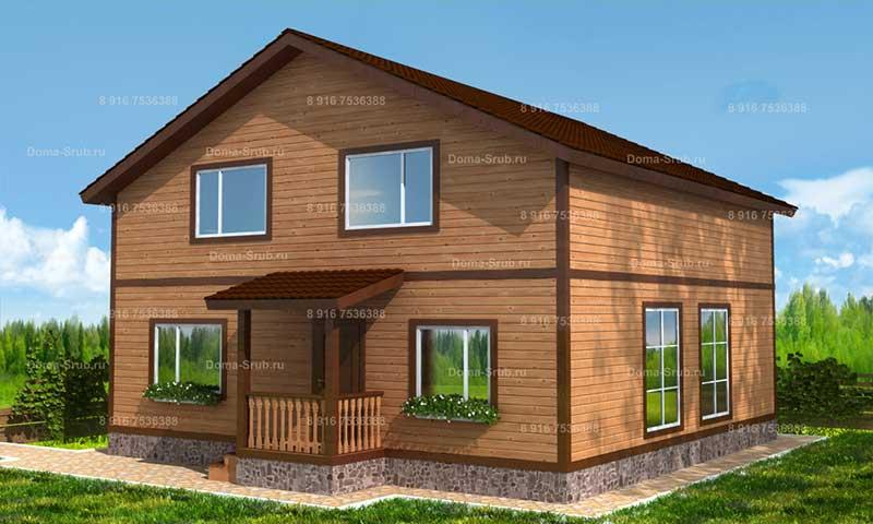 Проект ДБ-43 Дом из бруса 9.8х9.8