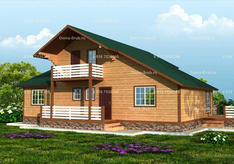 Проект ДБ-45 Дом из бруса 11х13.5