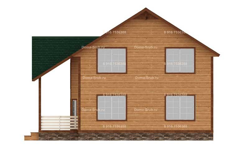 Проект ДБ-49 Дом из бруса 8.5х8.5