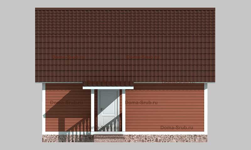 Проект КД-10 Каркасный дом 5х7