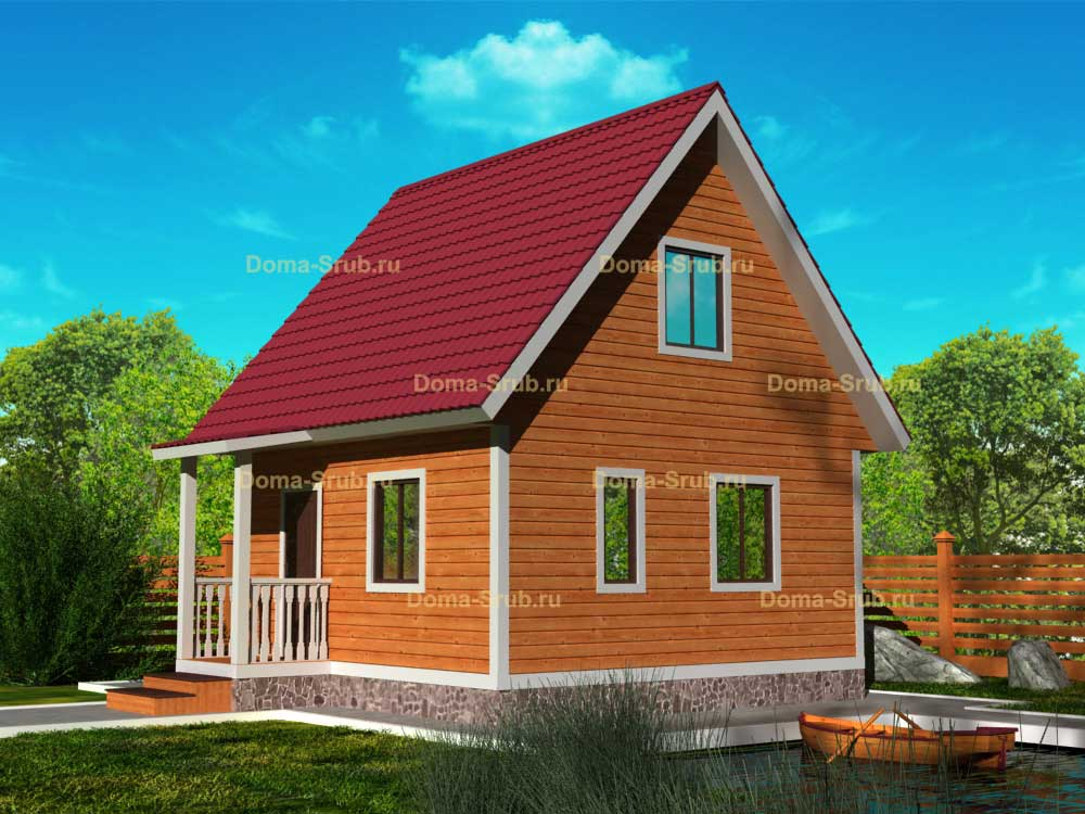 Проект КД-2 Каркасный дом 6х6