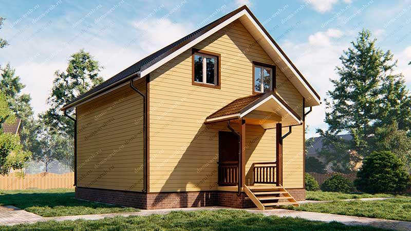 Проект КД-4 Каркасный дом 8х8