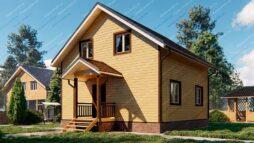 Каркасный дом 8х8 с мансардой
