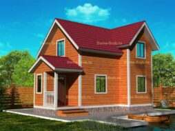 Каркасный дом 6х9 с мансардой