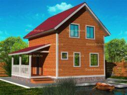 Каркасный дом полутораэтажный с мансардой