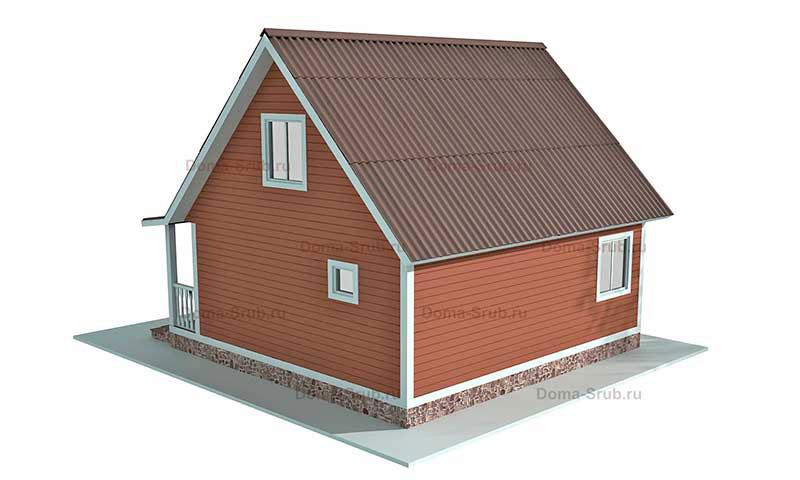 Проект КД-9 Каркасный дом 6х7