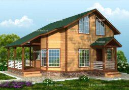 Каркасный дом 8х10 с панорамными окнами