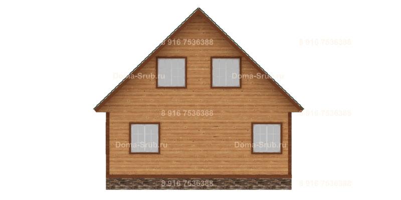Проект КД-14 Каркасный дом 8х8