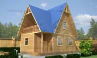 Каркасный дачный дом 6х8