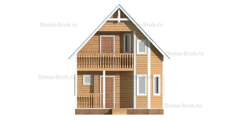 Проект КД-17 Каркасный дом 6х7