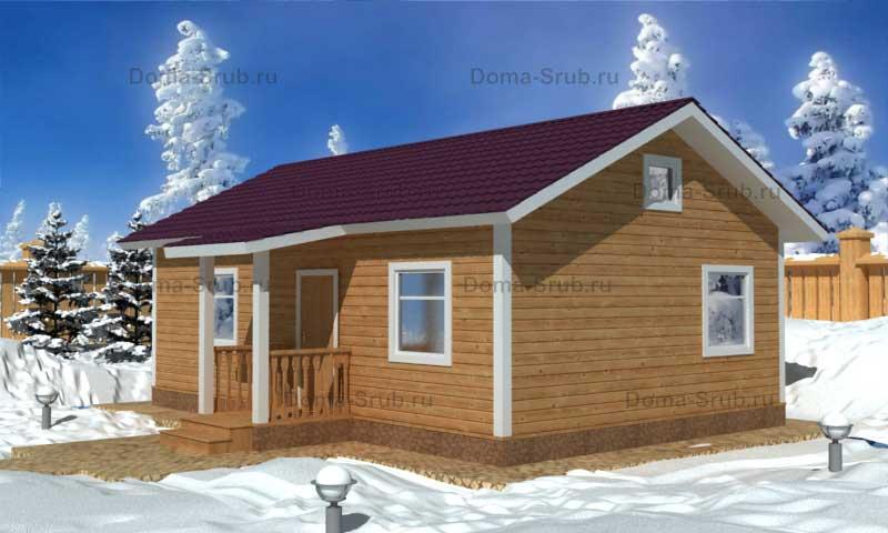 Проект КД-18 Каркасный дом 6х9