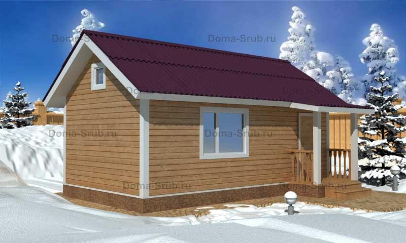 Проект КД-19 Каркасный дом 4х7