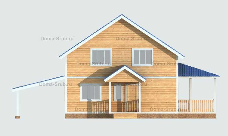 Проект КД-20 Каркасный дом 9х9