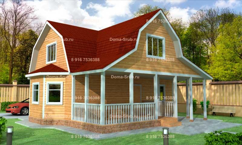 Проект КД-24 Каркасный дом 9х9