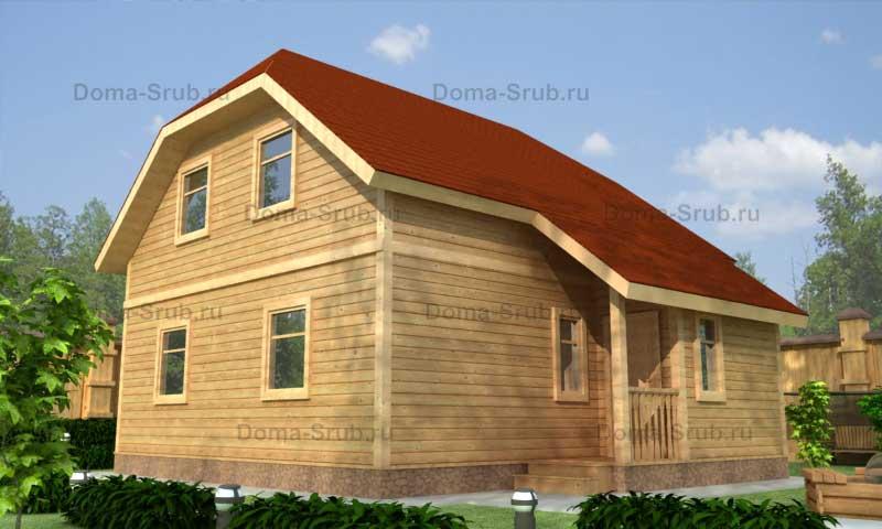Проект КД-27 Каркасный дом 8х9.5