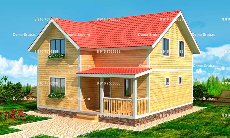 Проект КД-32 Каркасный дом 8х8.5