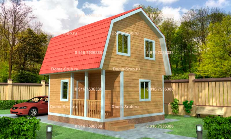 Проект КД-33 Каркасный дом 6х6