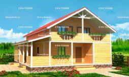 Каркасный дом 10х12