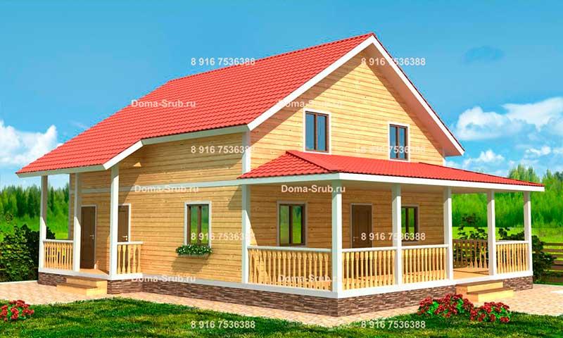 Проект КД-36 Каркасный дом 9х12