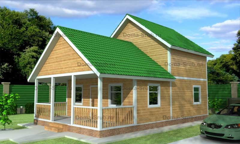 Проект КД-37 Каркасный дом 7х11.5