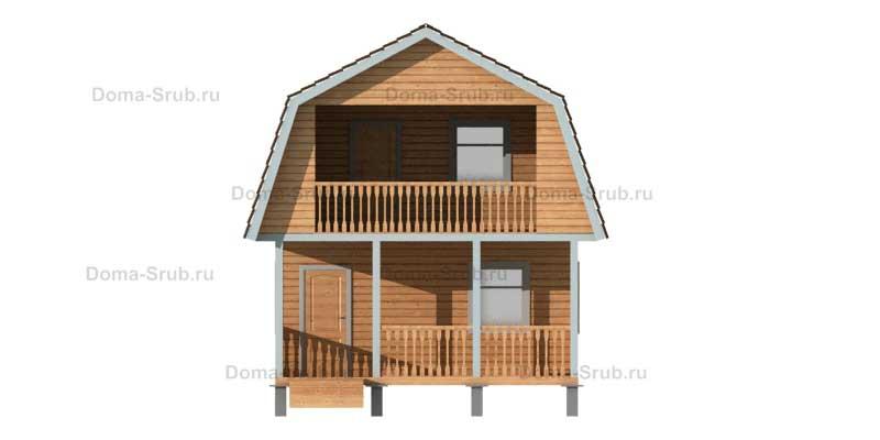 Проект КД-38 Каркасный дом 6х9