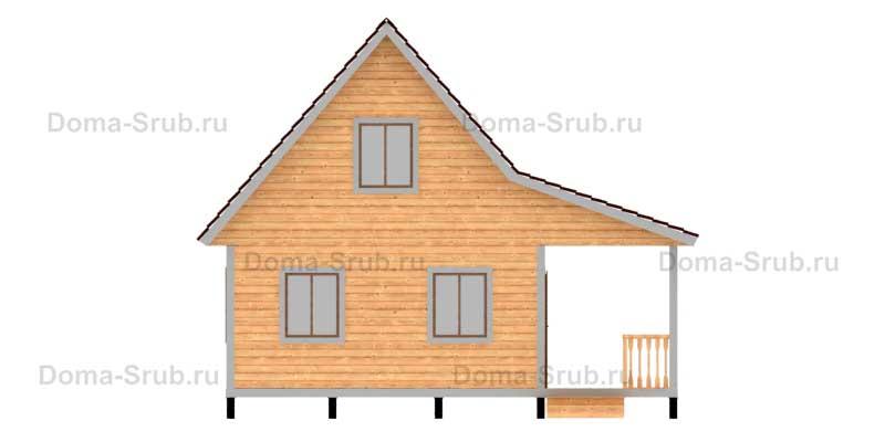 Проект КД-41 Каркасный дом 7х8.5