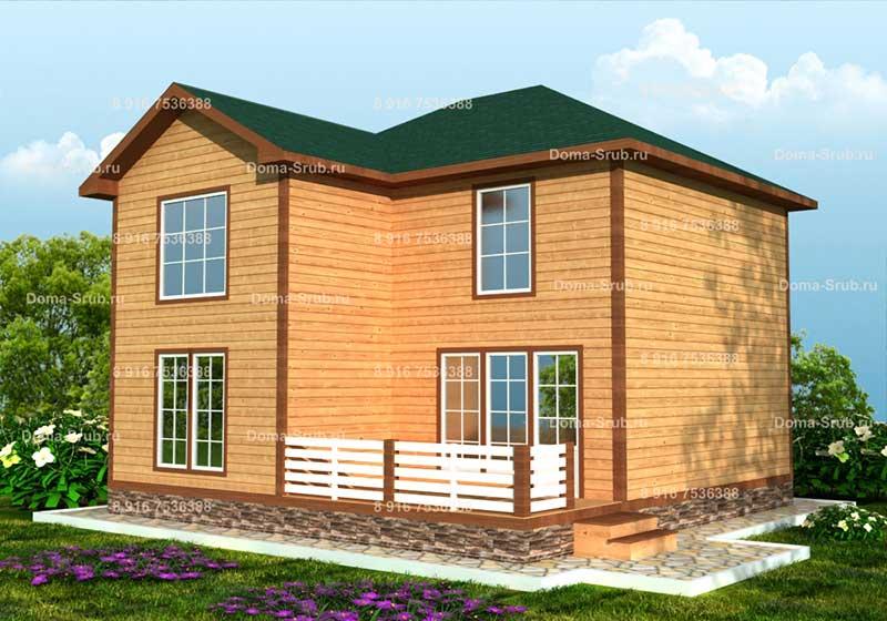 Проект КД-48 Каркасный дом 9х9