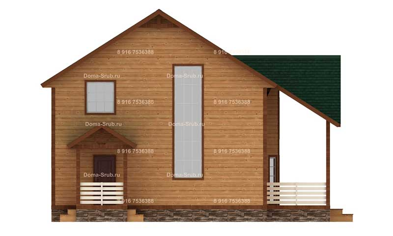 Проект КД-49 Каркасный дом 8.5х8.5