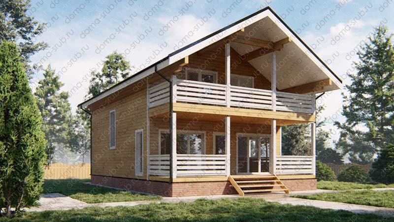 Проект ДБ-55 Дом из бруса 8х12