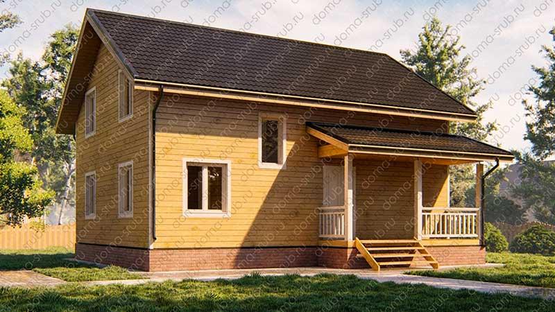 Проект ДБ-111 Дом из бруса 8х10